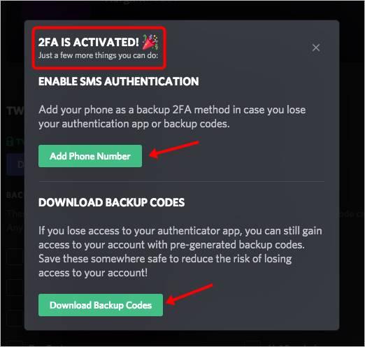 añadir numero telefono descargar copia seguridad codigo
