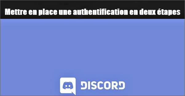Authentification en deux étapes Discorde
