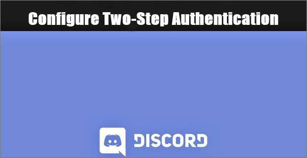 configure two-step authentication