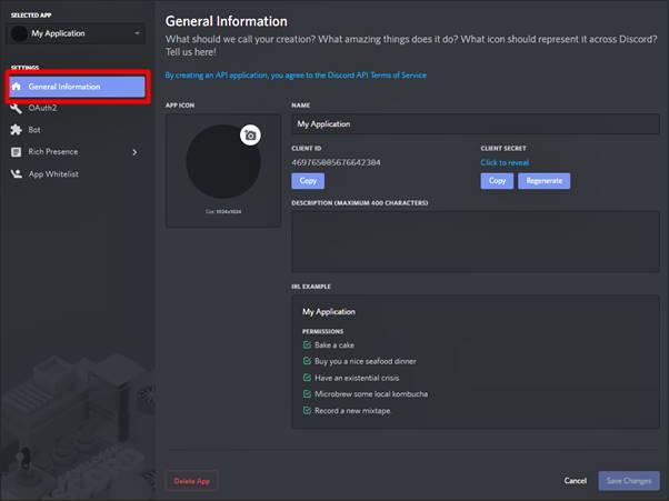 créer une application bot sur Discord